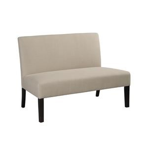 JGW Furniture Accents Modern Linen Armless Loveseat