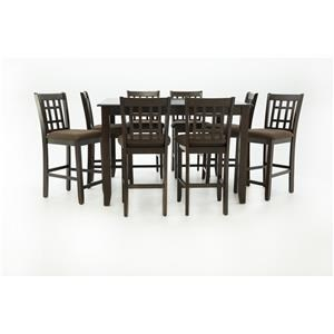 JGW Furniture JGW 9 Piece Dinette