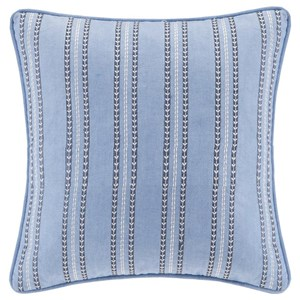 JLA Home Echo Design Striped Embroidery Square Pillow