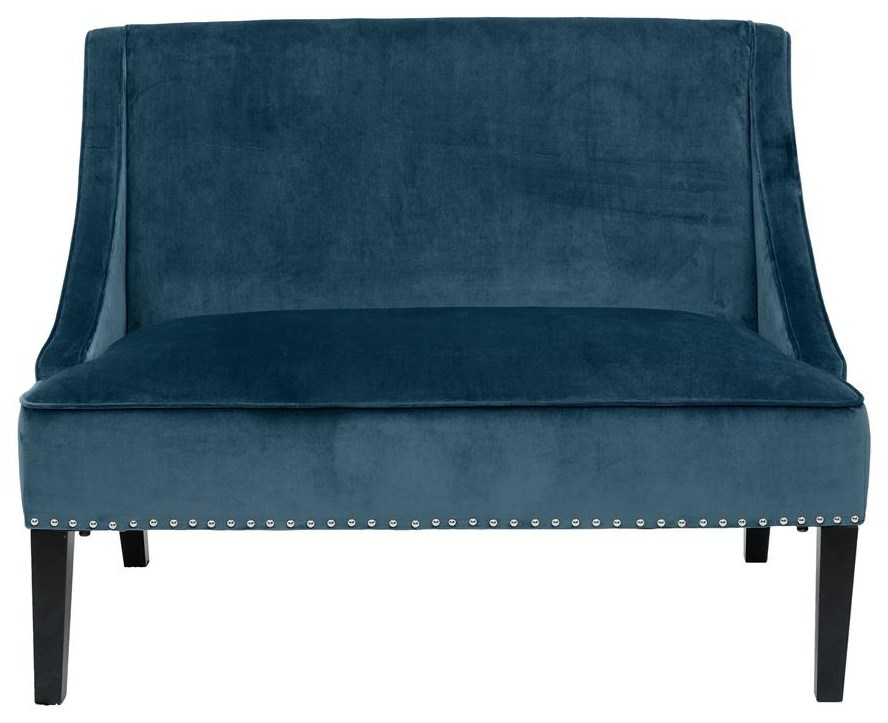 Home Accents Small Blue Settee at Belfort Furniture