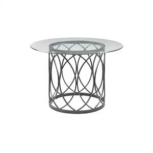 Metal and Glass Round Table