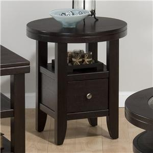 Jofran Marlon Wenge Round End Table
