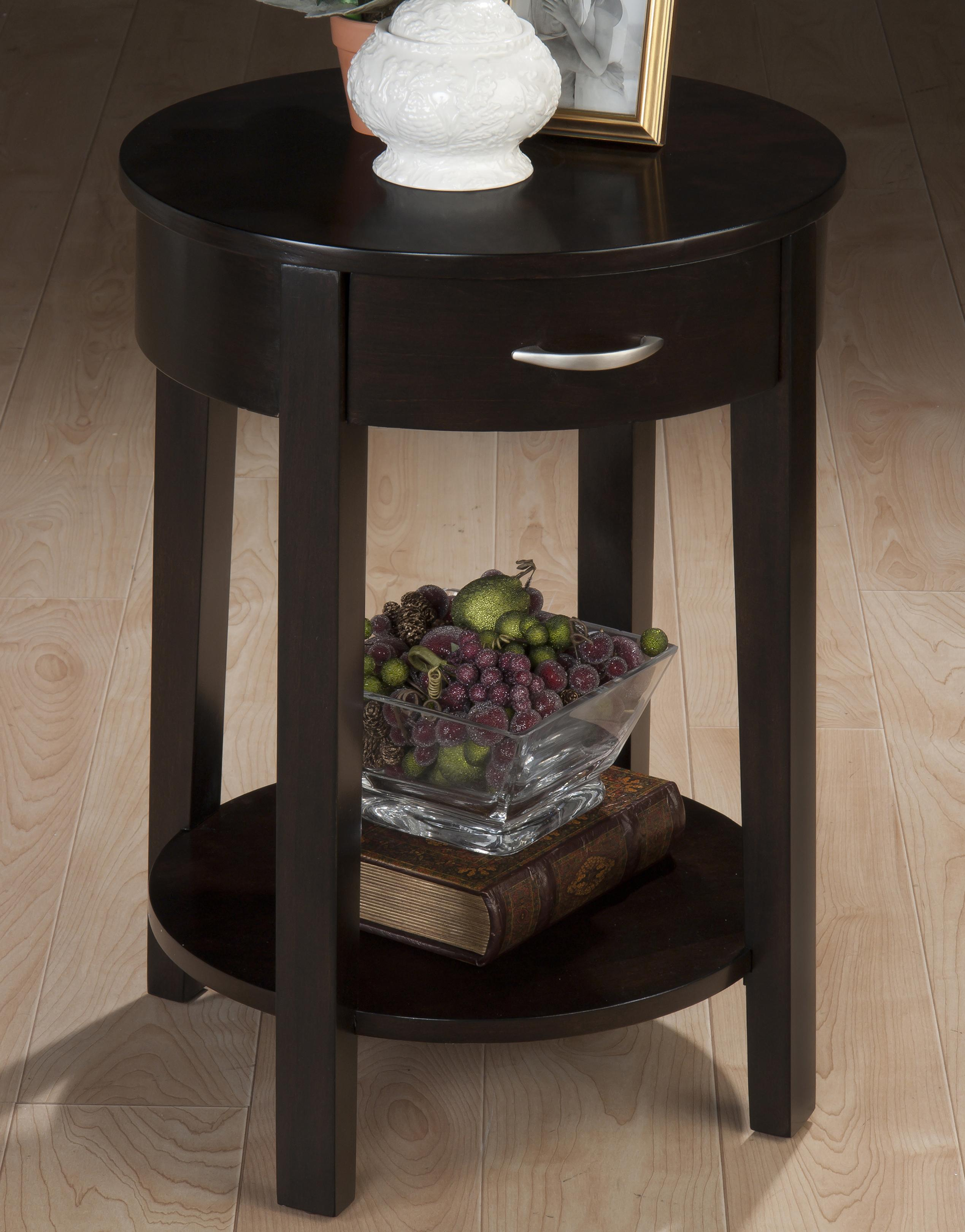 Jofran Dark Merlot Round Chairside Table - Item Number: 1028-7