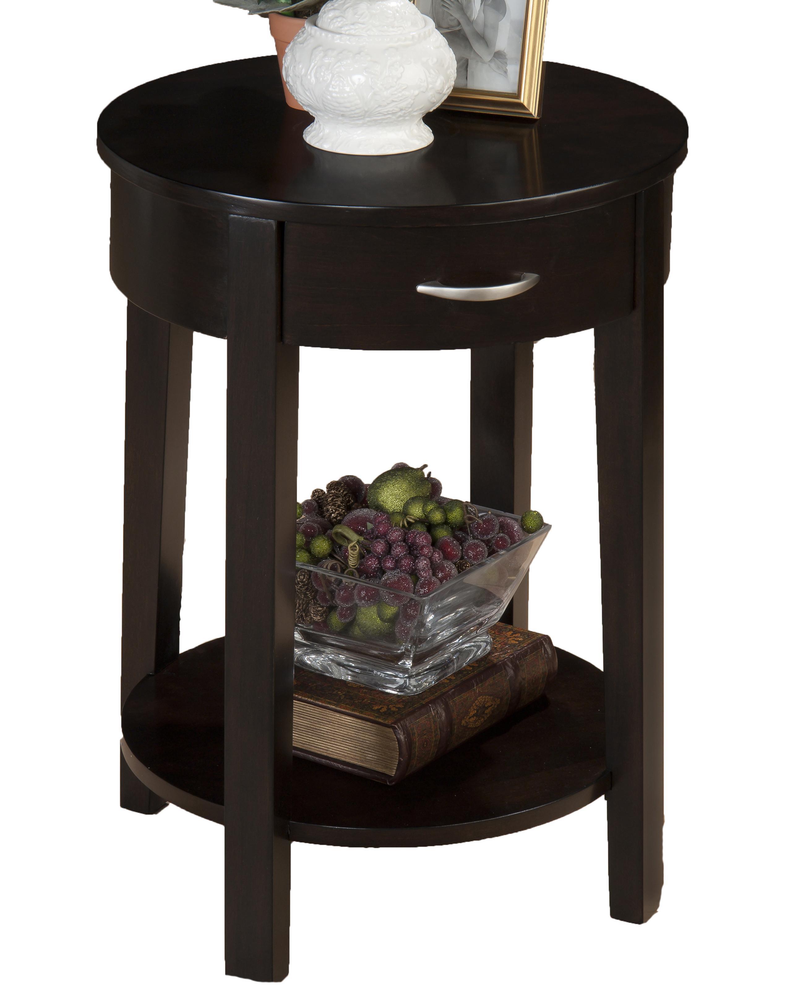 Morris Home Furnishings Dark Merlot Kilmer Chairside Table - Item Number: 1028-7