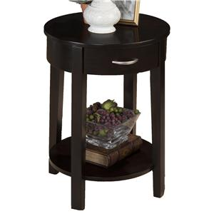 Morris Home Furnishings Dark Merlot Kilmer Chairside Table