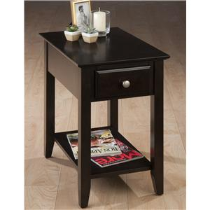 Jofran Espresso Chairside Table