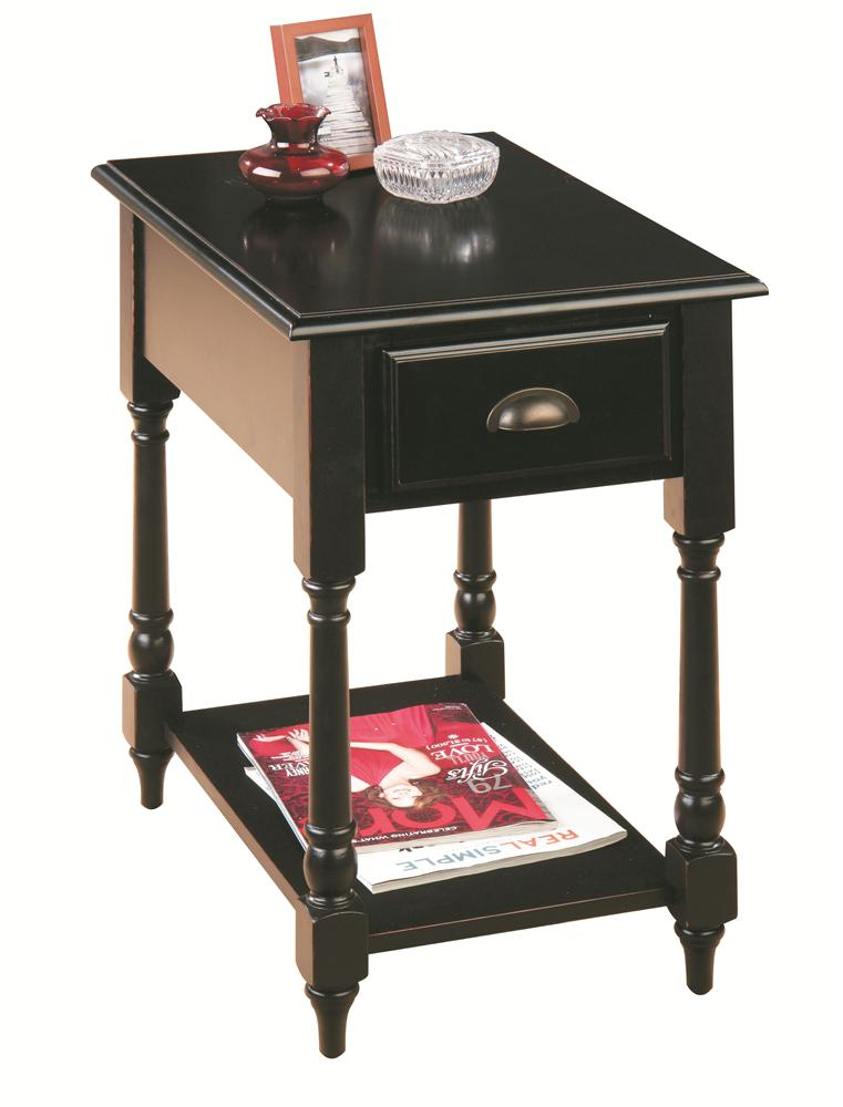Jofran Antique Black Chairside Table - Item Number: 1034-7