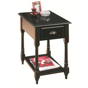 Jofran Antique Black Chairside Table