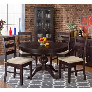 Jofran Hillside 5PC Pedestal Dining Table & Chair Set