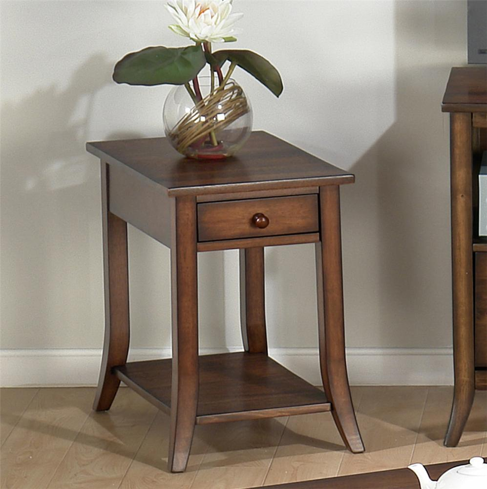 206 Chairside Table by Jofran at Pilgrim Furniture City
