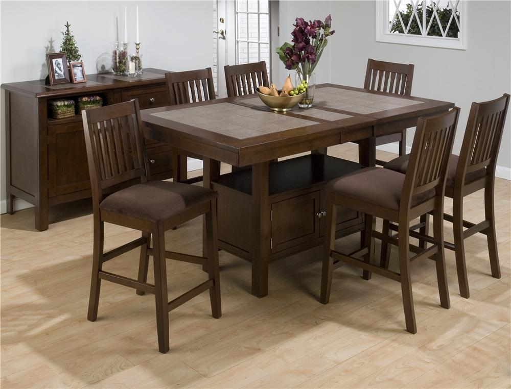Morris Home Furnishings Derby Derby 5 Piece Counter Dining Set - Item Number: 976-72T/B/BS671KD(4)