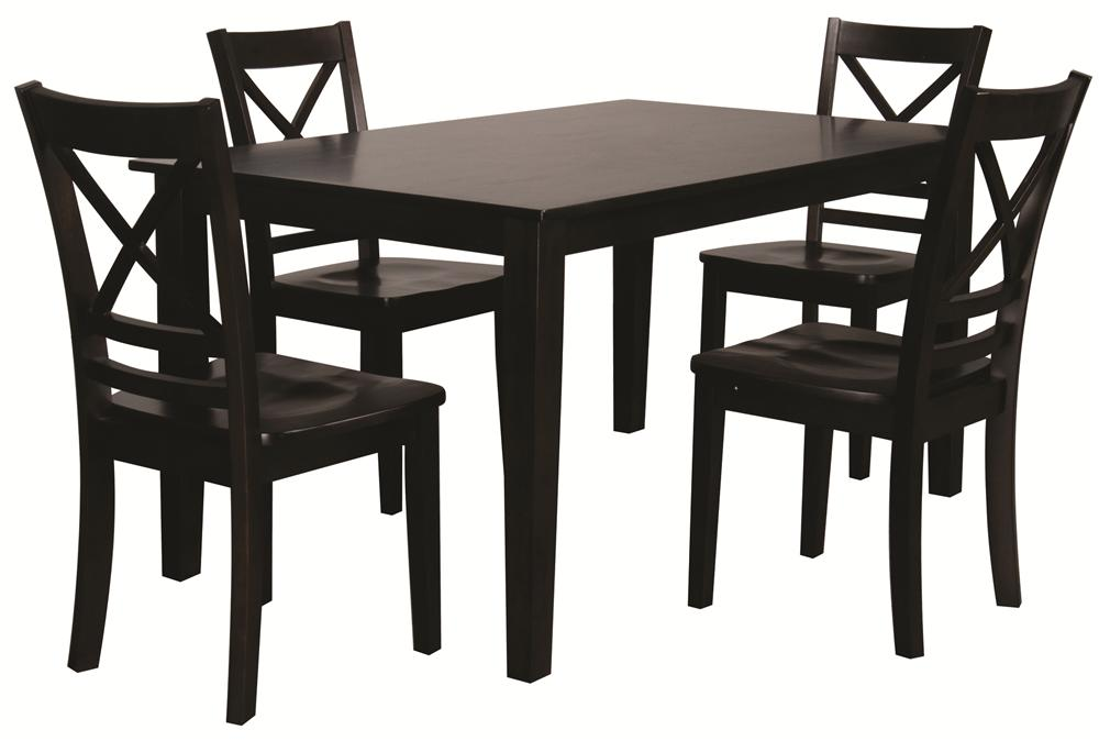Morris Home Furnishings Trumbull Trumbull 5 Piece Dining Set - Item Number: 552-60/806KD