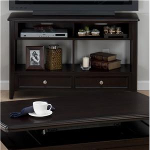 Corranado Espresso Casual Espresso Sofa Media Unit with 2 Drawers & 2 Shelves by Jofran