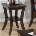 Jofran Joe's Espresso Chairside Table - Item Number: 328-7