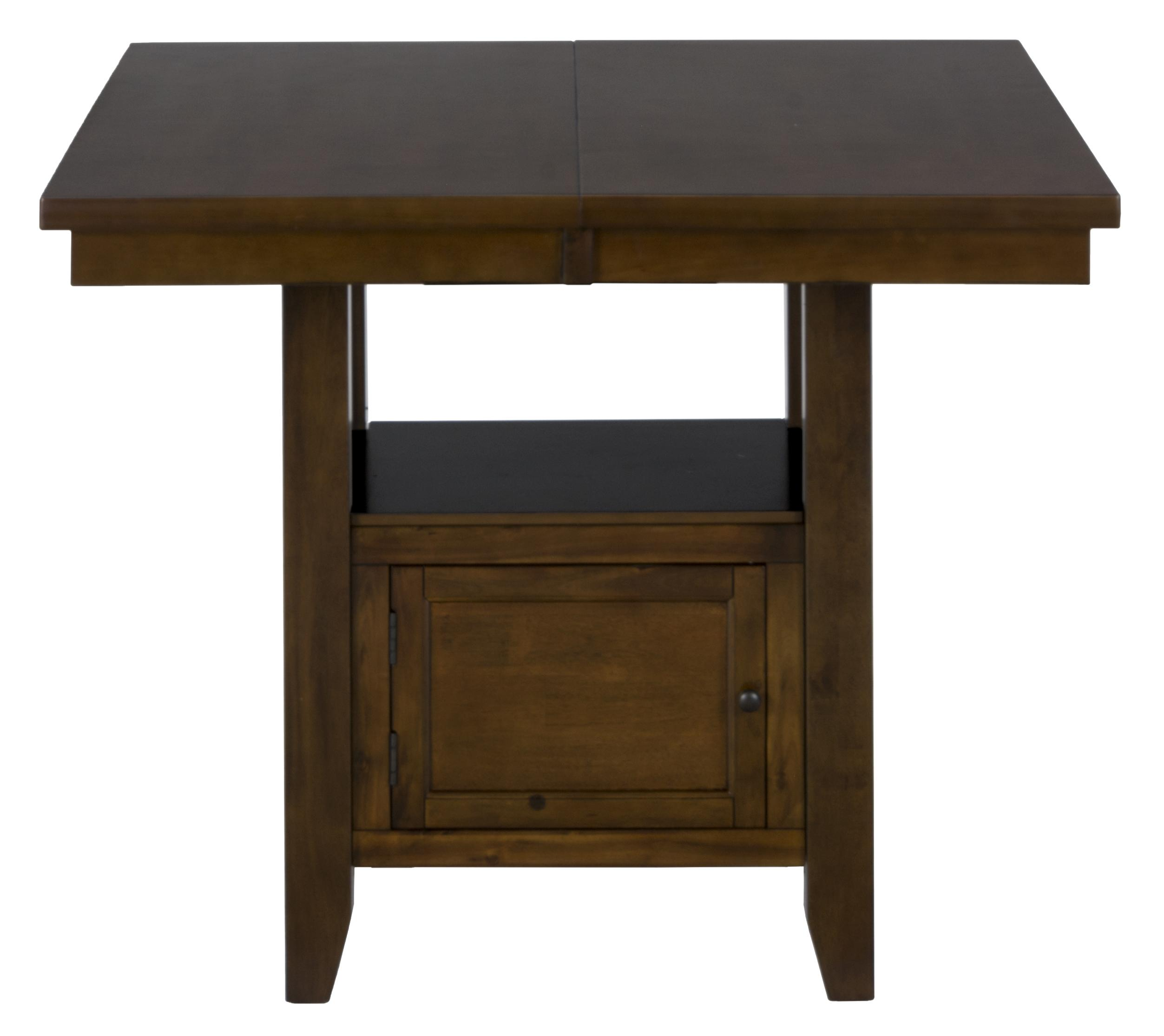 Jofran Taylor Brown Cherry Double Header Counter Height Table - Item Number: 337-54B+T