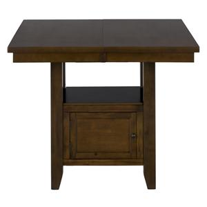 Jofran Taylor Brown Cherry Double Header Counter Height Table