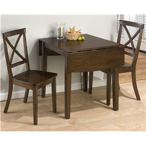 Taylor Cherry 3-Piece Drop Leaf Kitchen Table & Side Chair Set by Jofran