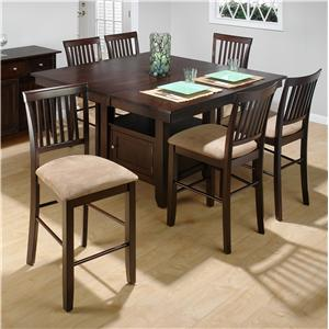 Jofran Bakery's Cherry Counter Height Table and (6) Stools Set
