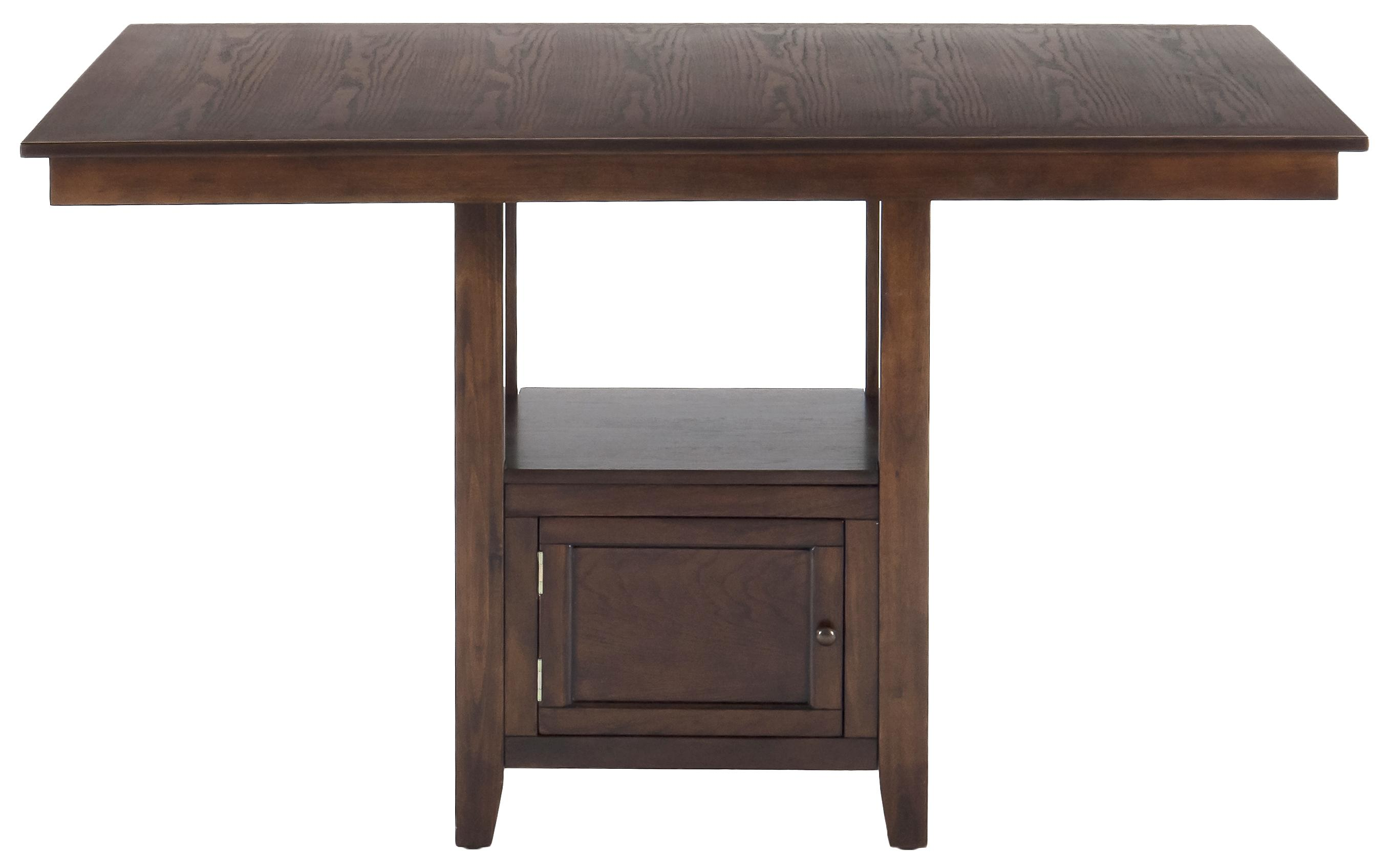 Jofran Olsen Oak Counter Height Table with Storage Base - Item Number: 439-60B+T
