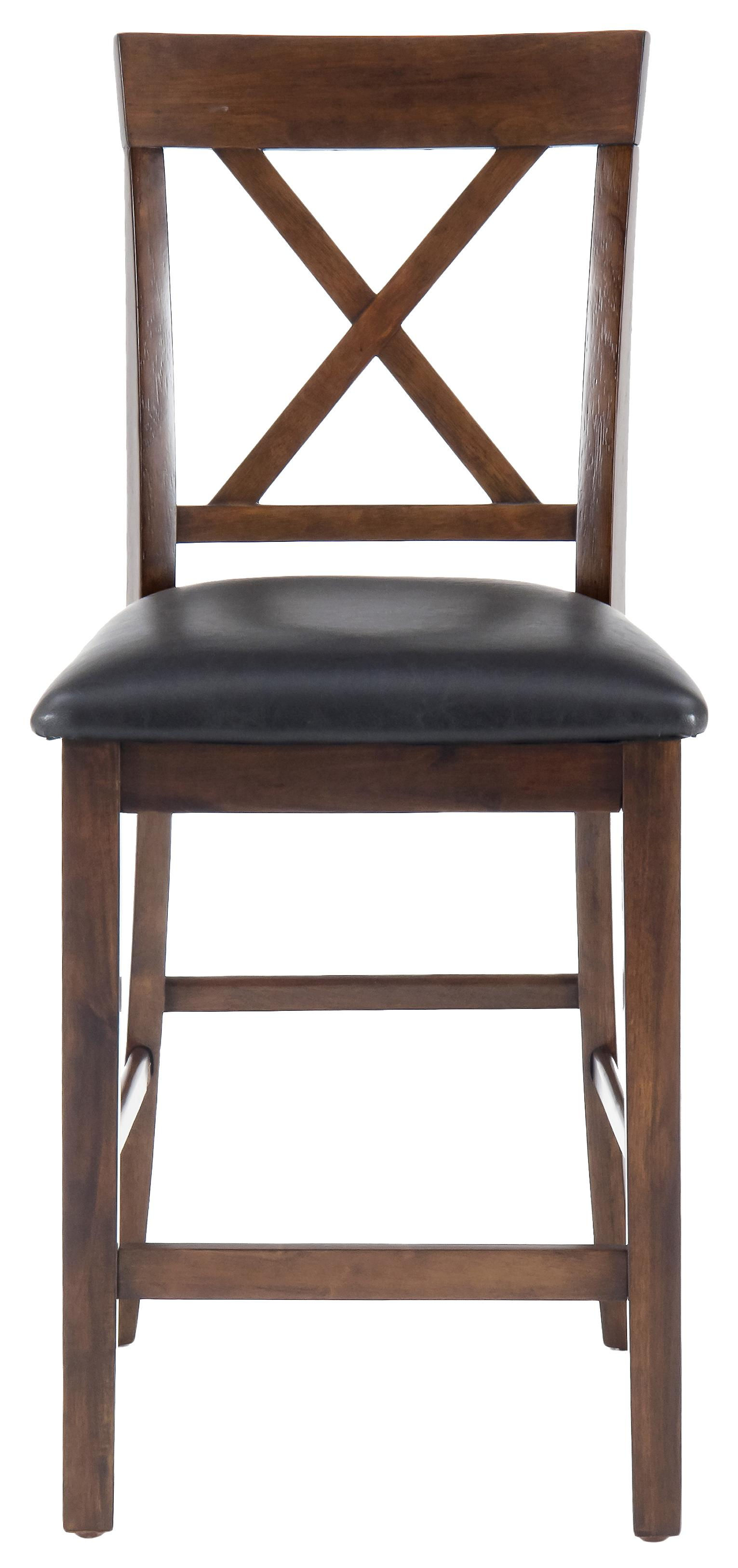 Jofran Olsen Oak X-Back Stool - Item Number: 439-BS103KD