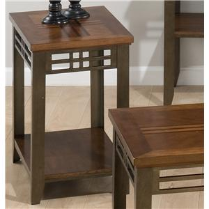 Morris Home Furnishings Barrington Cherry Bostic Hill Chairside Table