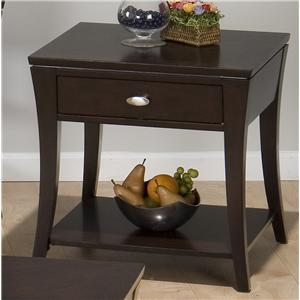 Jofran Manhattan Espresso End Table