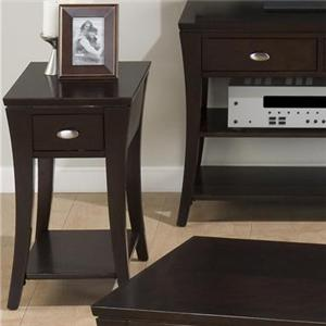 Jofran Manhattan Espresso Chairside Table