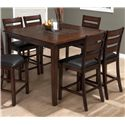 Jofran Baroque Brown 5 Piece Counter Height Dining Set - Item Number: 697-50+4xBS923KD