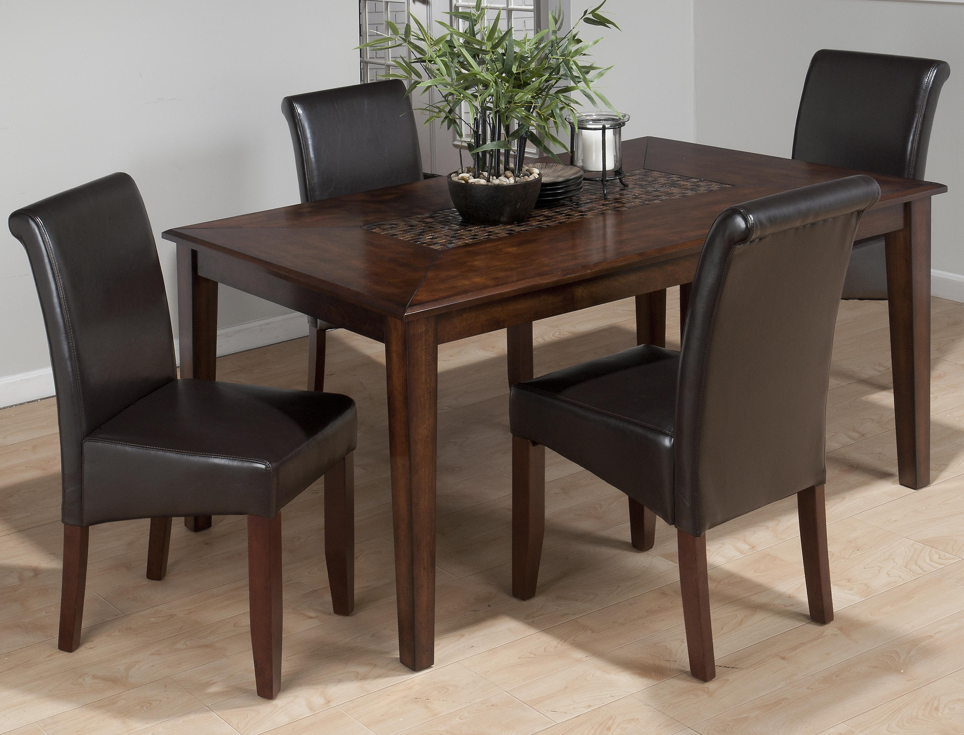 Jofran Baroque Brown 5-Piece Dining Set - Item Number: 697-64+4x888-480KD