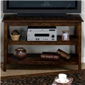 Jofran Baroque Brown Mosaic Inlay 2-Shelf Sofa Table
