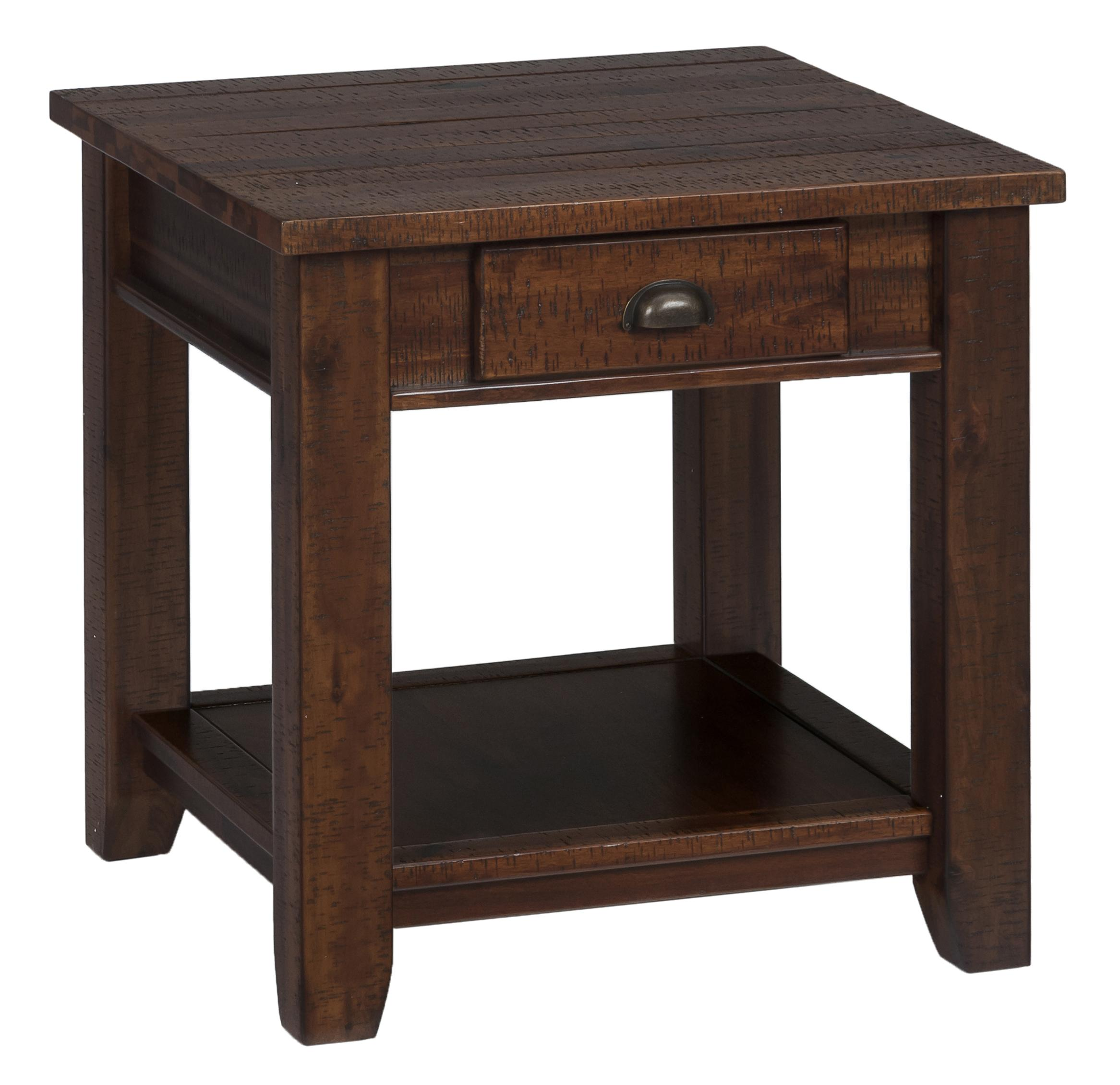 Jofran Urban Lodge Brown 731 3 Casual End Table With One