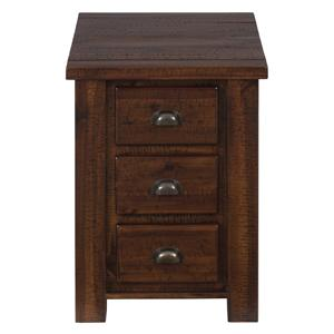 Jofran Urban Lodge Brown Chairside Table