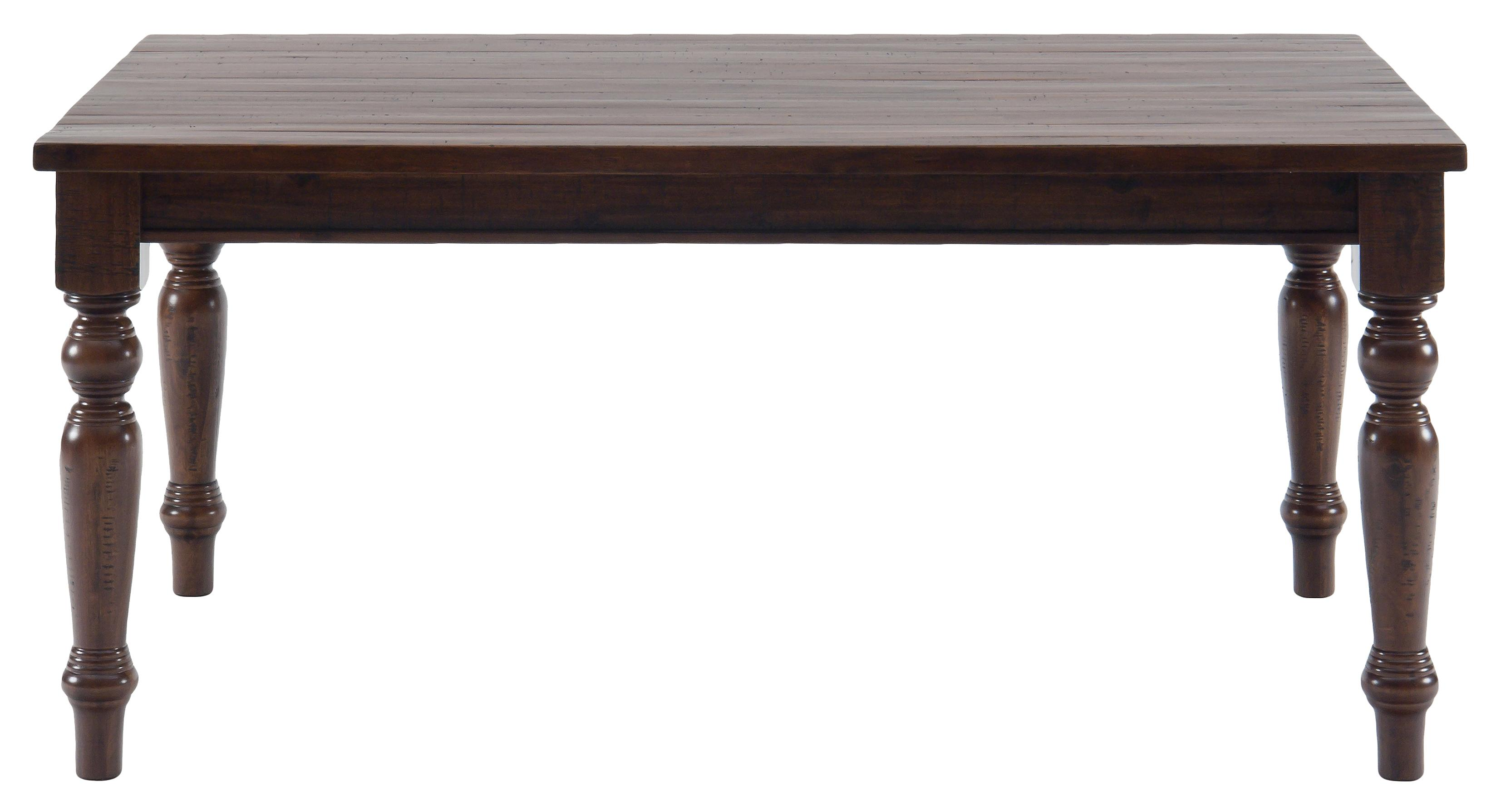 Urban Lodge Rustic Hewn Rectangular Table by Jofran at Pilgrim Furniture City
