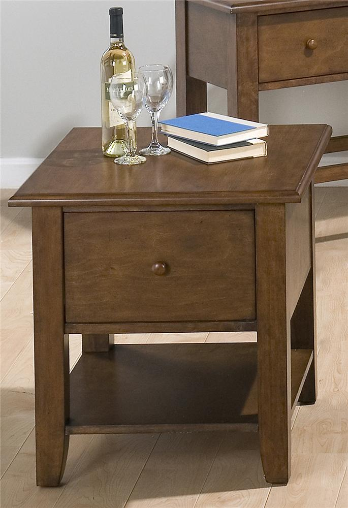 73 End Table by Jofran at Pilgrim Furniture City
