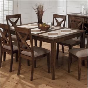 Jofran Tucson Brown  Tri-Color Tile Top Dining Table