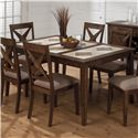 Jofran Tucson Brown  Tri-Color Tile Top Dining Table - Item Number: 794-64