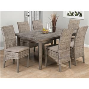 Jofran Burnt Grey 7 Piece Dining Set