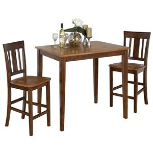 Jofran Kura Espresso and Canyon Gold 3-Piece Dining Set