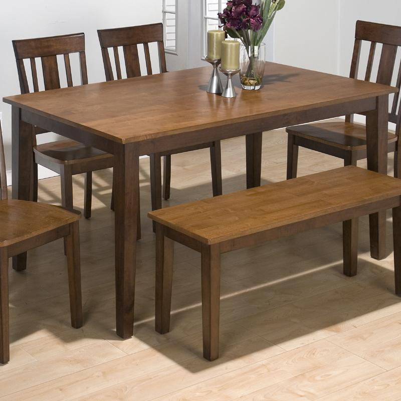 Solid Rubberwood Rectangular Table