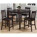 Jofran Marin County Merlot 5-Piece Pub Table Set - Item Number: 892