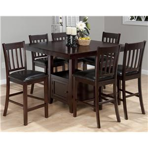 Jofran Tessa Chianti 7-Piece Counter Height Table Set