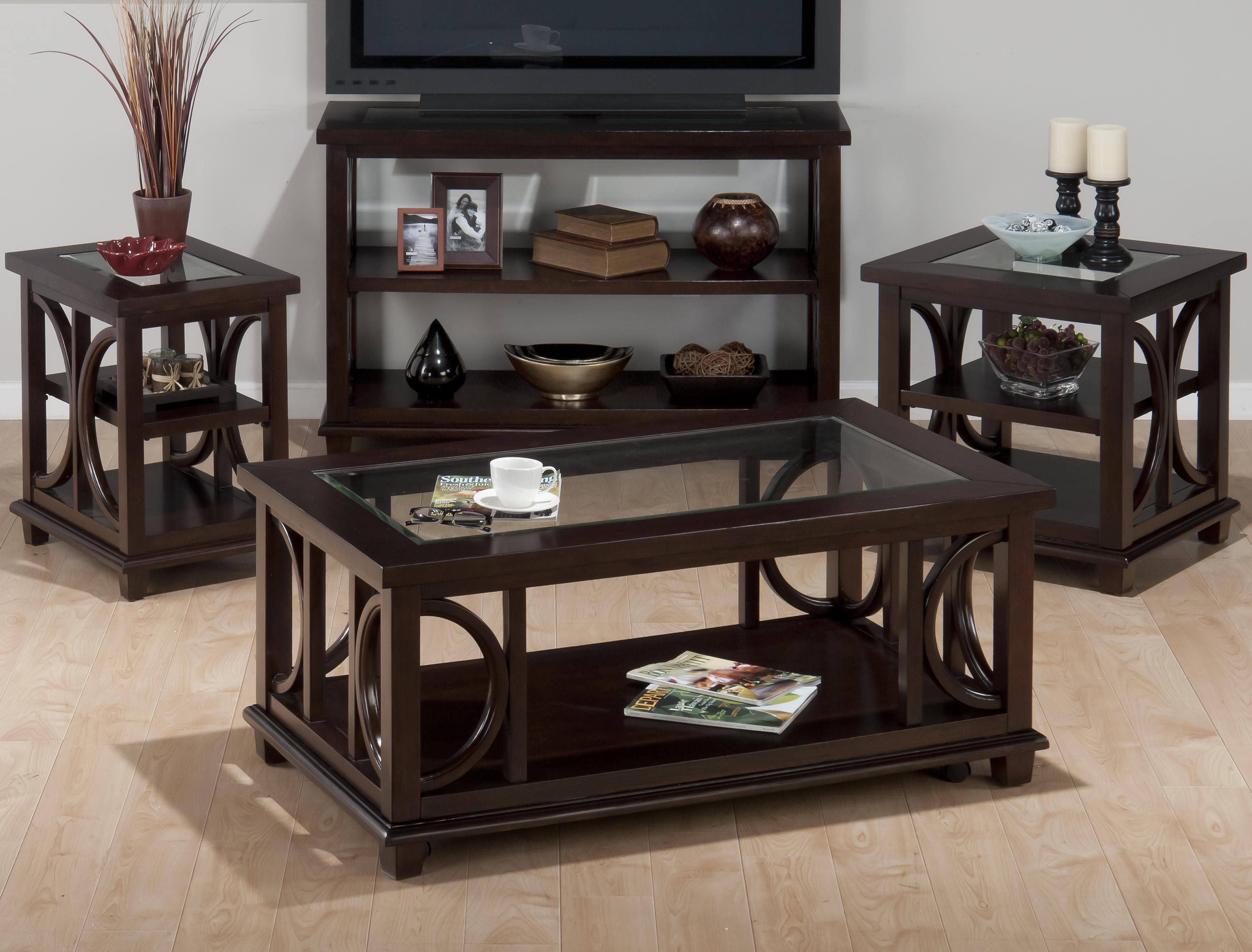 Jofran Panama Brown Contemporary Coffee Table With Beveled