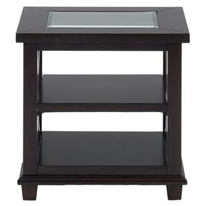 Morris Home Furnishings Panama Brown Desota Court End Table