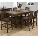 Jofran Chelsea Table and Stool Set - Item Number: 976-72B+72T+6xBS671KD
