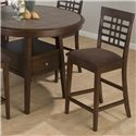 Jofran Caleb Brown Barstool w/ Weave Back & Microfiber Seat - Item Number: 976-BS515KD