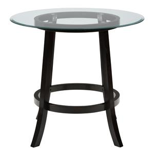 "Jofran Aaron Pub 42"" Round Pub Table with Glass Top"