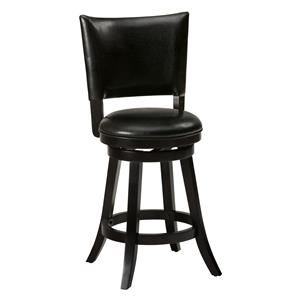 Jofran Aaron Pub Swivel Stool with Upholstered Seat and Back