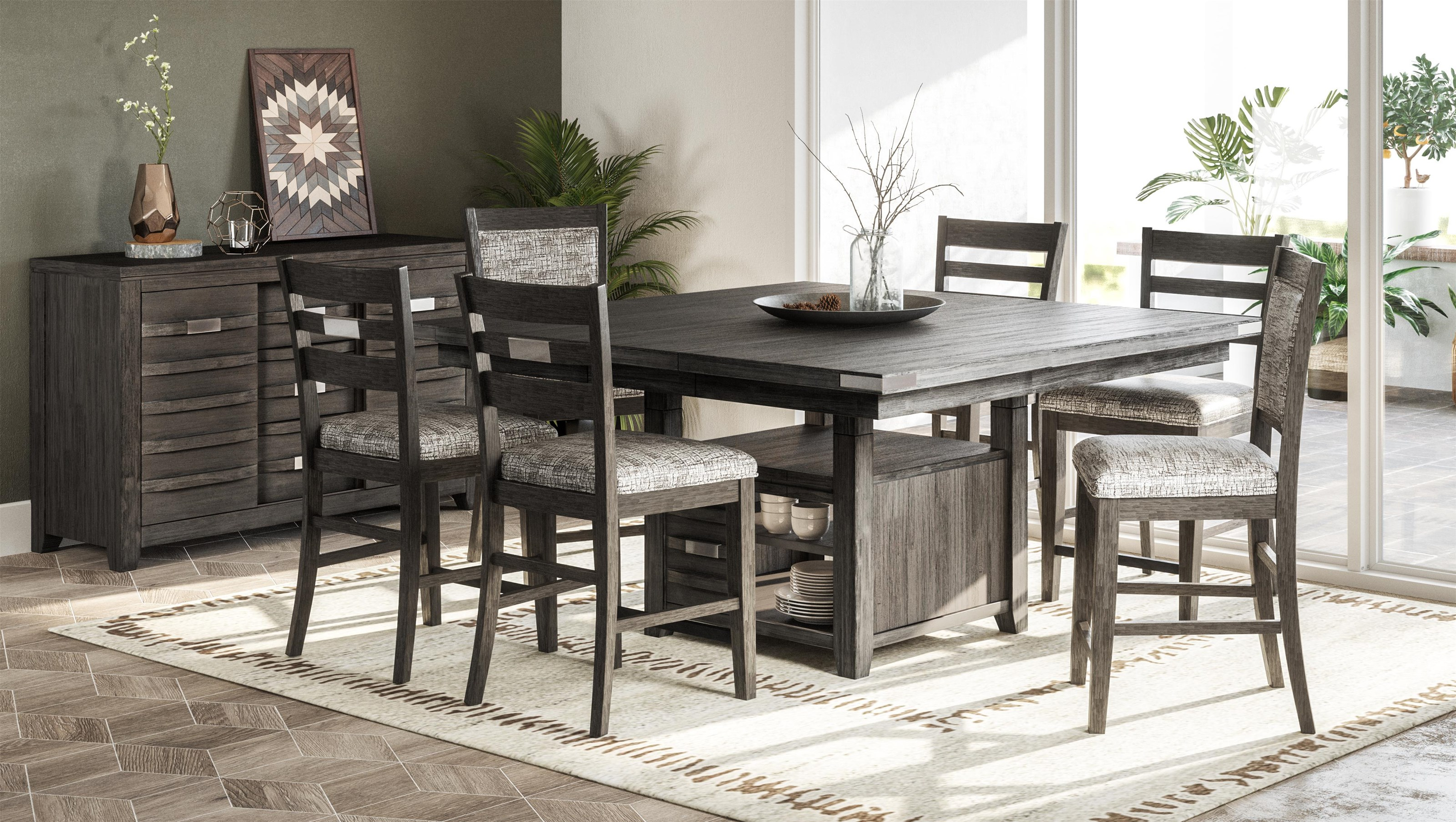 Altamonte 5 Piece Counter Height Dining Set by Jofran at Darvin Furniture