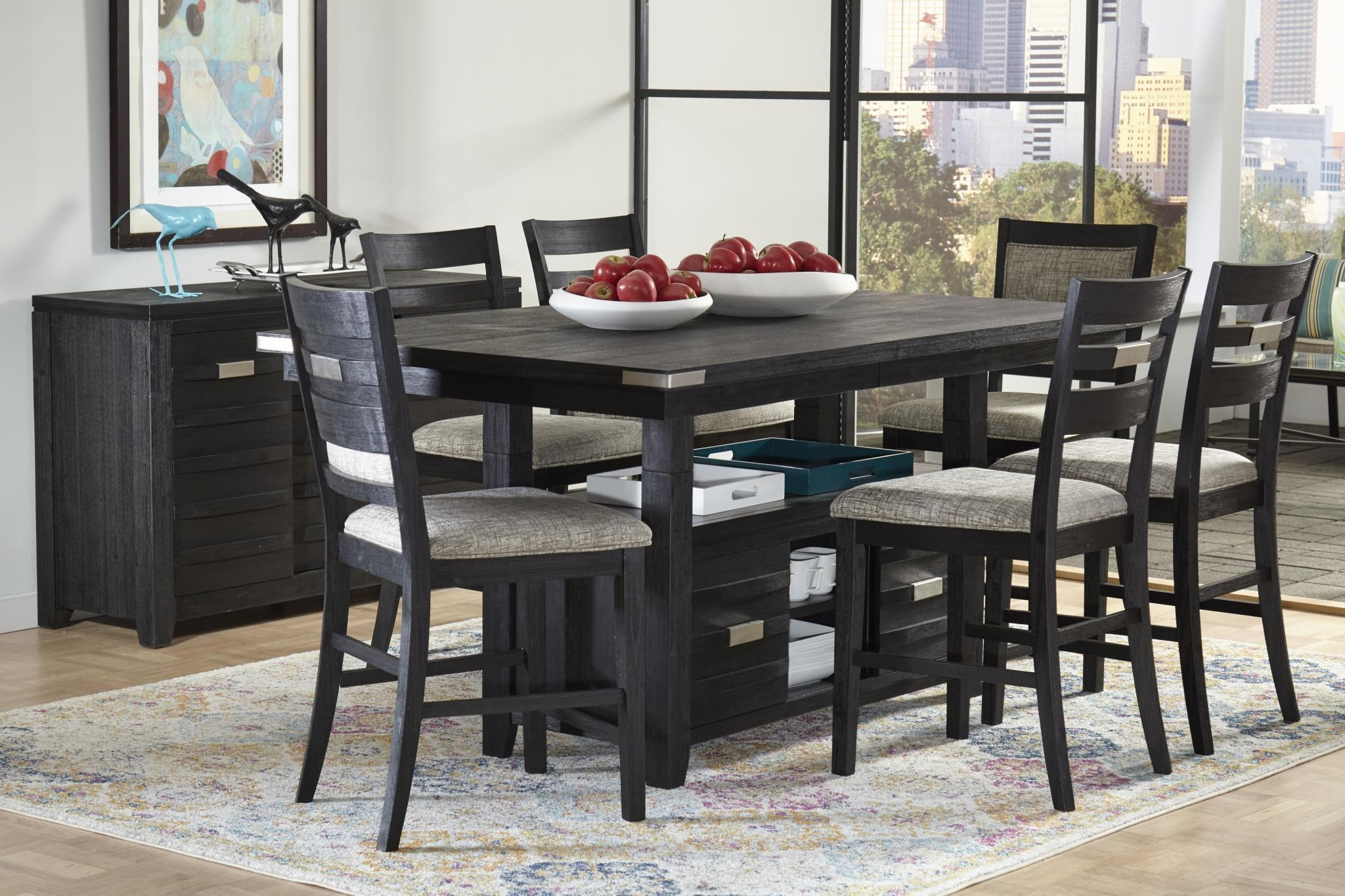 6-Piece Counter Height Dining Table Set