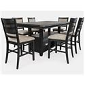 Jofran Altamonte 7 Pc. Counter Height Dining Set - Item Number: PKG1851TAB2
